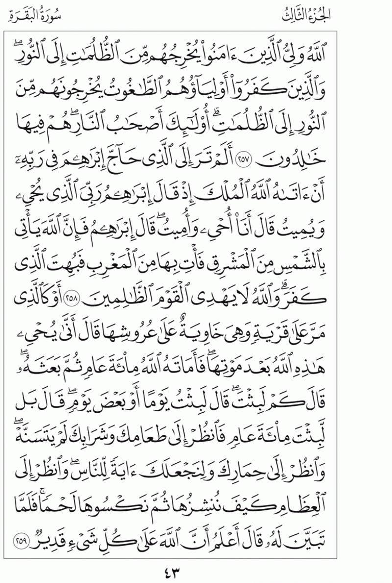 #القرآن_الكريم بالصور و ترتيب الصفحات - #سورة_البقرة صفحة رقم 43