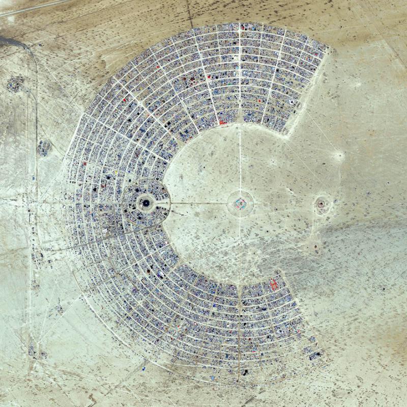 Amazing #Satellite Photos from the #World - Burning Man, Black Rock City, #Nevada , #United_States - Image 65