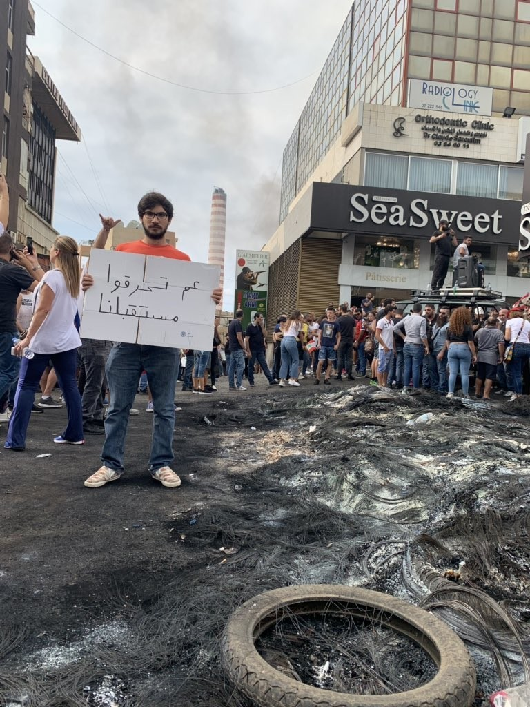 صور من مظاهرات #لبنان #لبنان_ينتفض - صورة 31