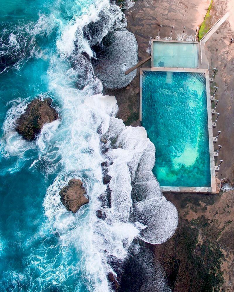 Amazing #Satellite Photos from the #World - Beach Pool, Mona Vale, NSW, #Australia - Image 92