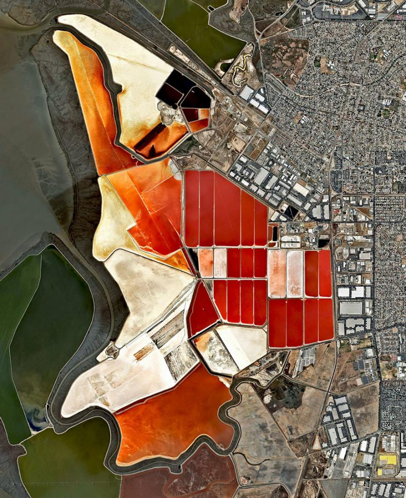 Amazing #Satellite Photos from the #World - Salt Ponds, San Francisco Bay, #California , #United_States - Image 69