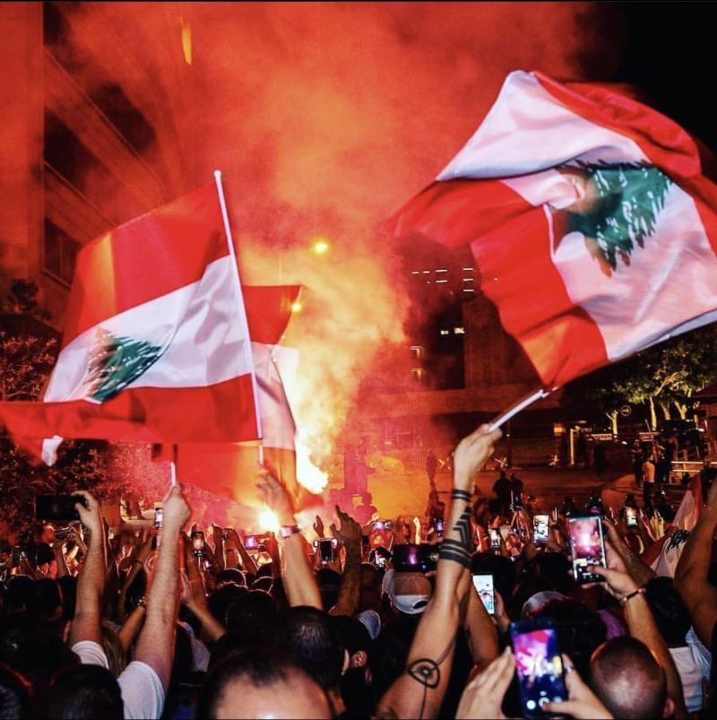 صور من مظاهرات #لبنان #لبنان_ينتفض - صورة 19