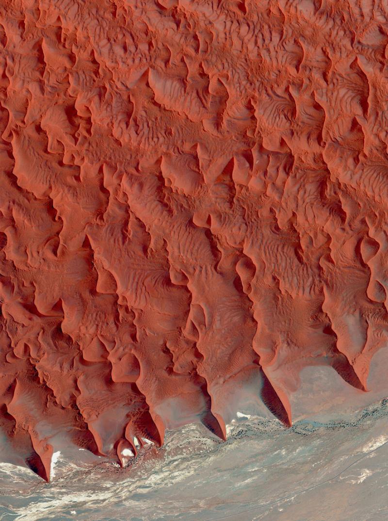 Amazing #Satellite Photos from the #World - Salt And Clay Pan, Namib Desert, #Namibia - Image 98