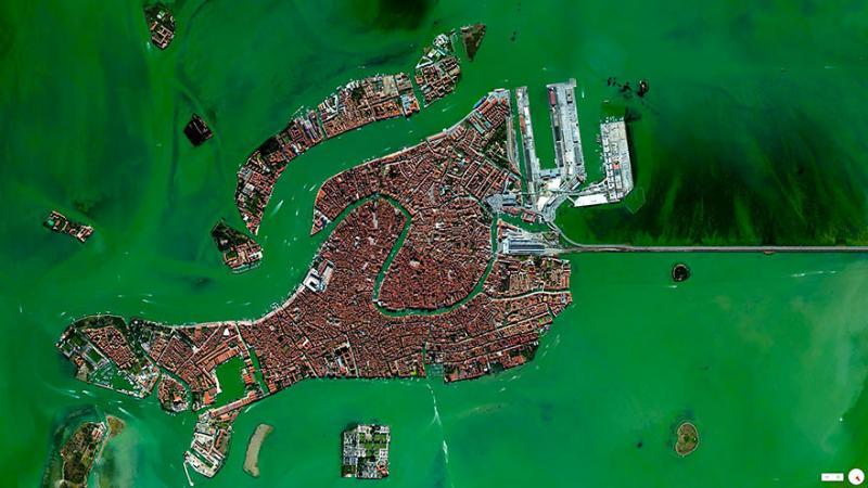 Amazing #Satellite Photos from the #World #Venice , #Italy - Image 34