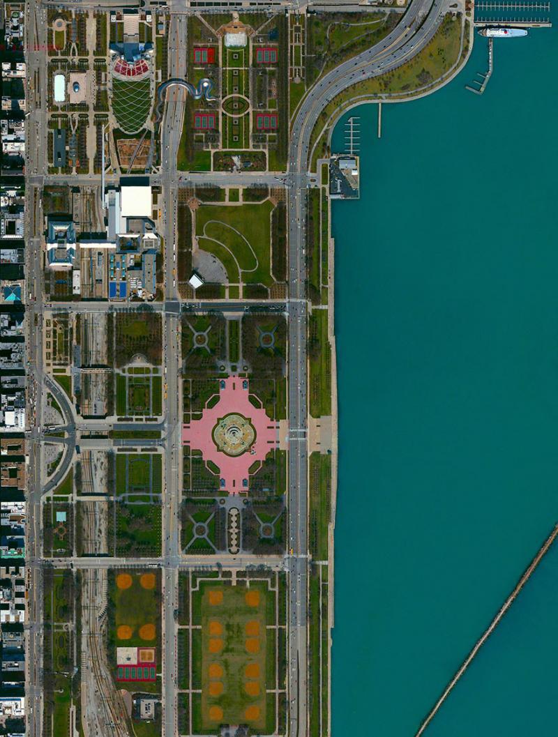 Amazing #Satellite Photos from the #World - Maggie Daley Park, Chicago, #Illinois , #United_States - Image 28