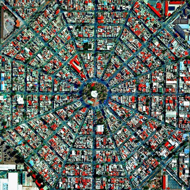 Amazing #Satellite Photos from the #World - Plaza Del Ejecutivo, Mexico City, #Mexico - Image 66