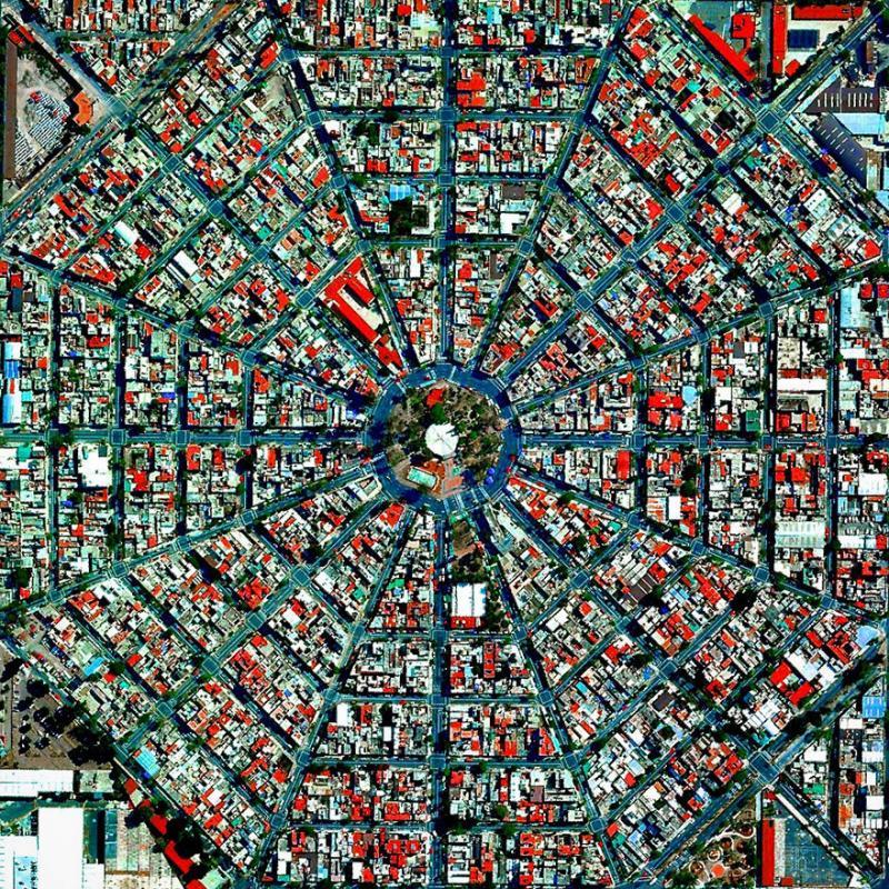 Amazing #Satellite Photos from the #World - Plaza Del Ejecutivo, Mexico City, #Mexico - Image 66