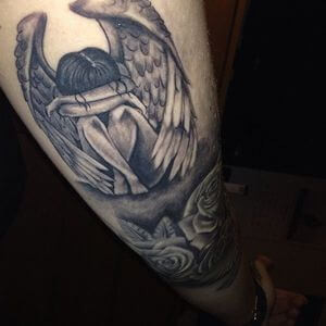 تصاميم #وشوم #وشم #Tattoos على صور ملائكة #فن #ماكياج #بنات - صورة 45