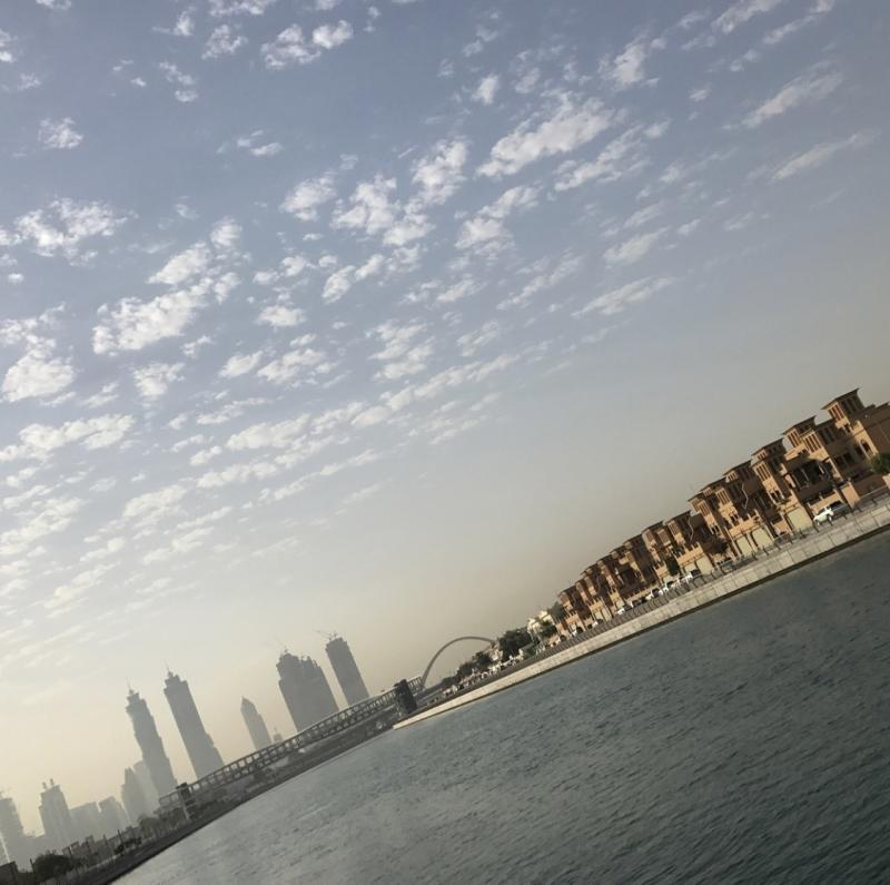 Amazing view #dubai canal #photography #hobby #iphone