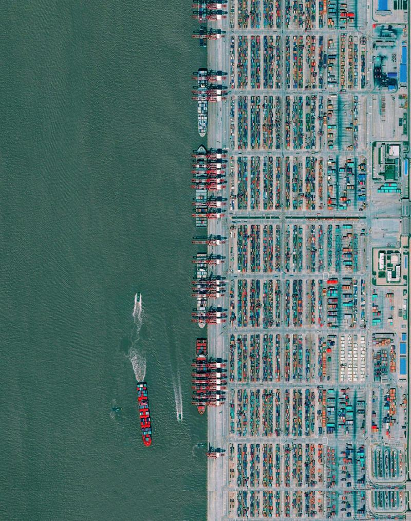Amazing #Satellite Photos from the #World - Port Of Shanghai, #Shanghai , #China - Image 2
