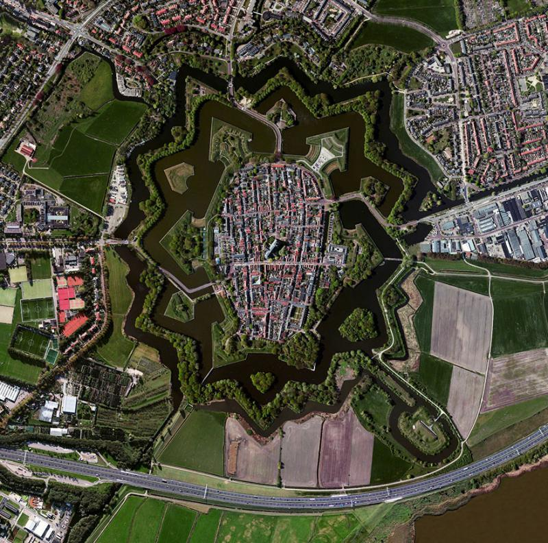 Amazing #Satellite Photos from the #World - Naarden, #Netherlands - Image 41