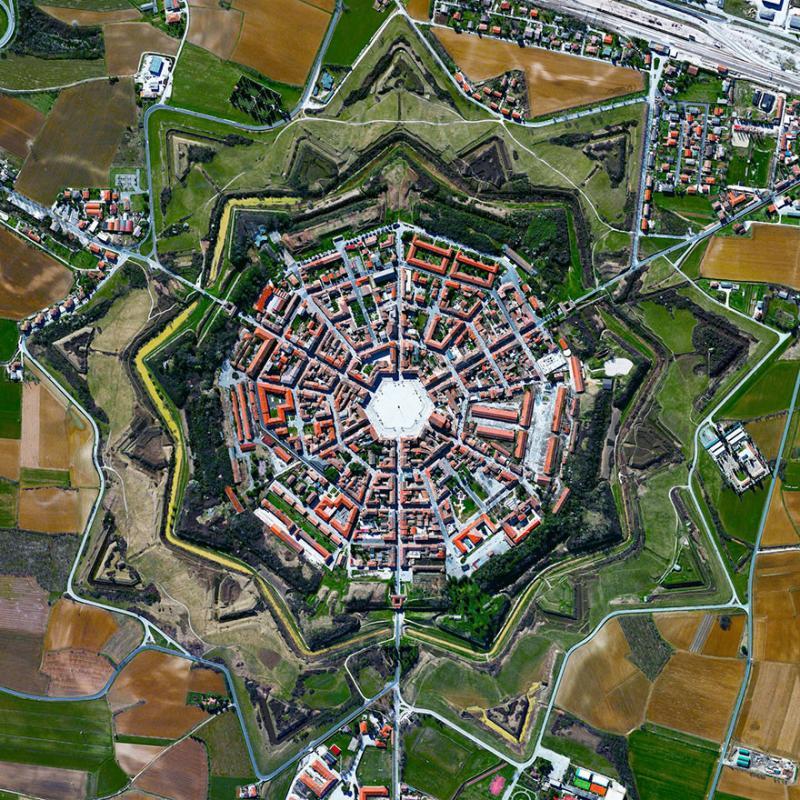Amazing #Satellite Photos from the #World - Palmanova,#Italy - Image 93