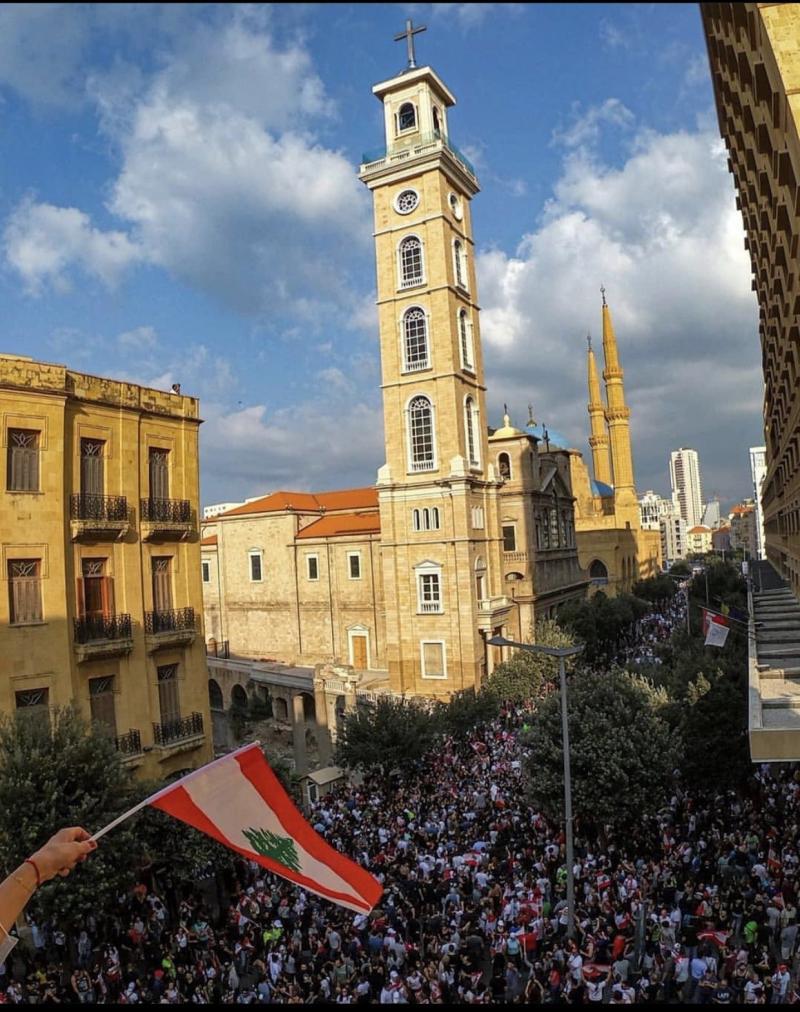 صور من مظاهرات #لبنان #لبنان_ينتفض - صورة 18
