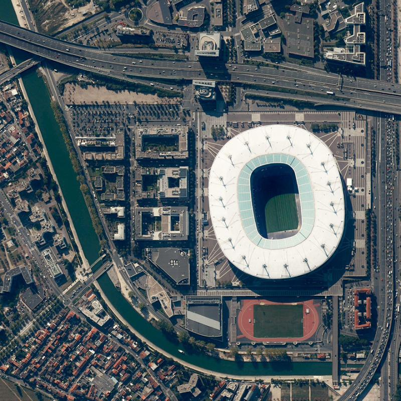 Amazing #Satellite Photos from the #World - Stade De France, Saint Denis, #France - Image 44