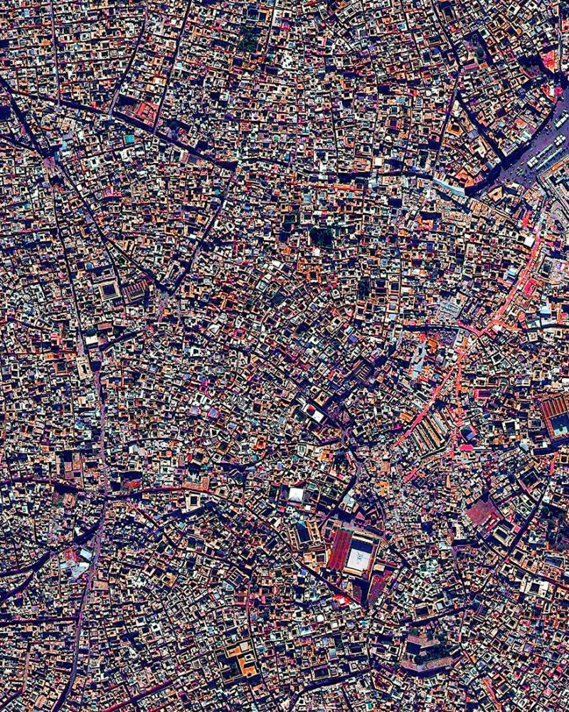 Amazing #Satellite Photos from the #World - Medina Quarter, Marrakesh, #Morocco - Image 37