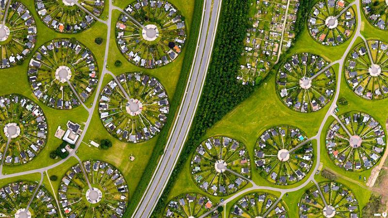Amazing #Satellite Photos from the #World - Brøndby Haveby, Brønby Municipality, #Denmark - Image 94