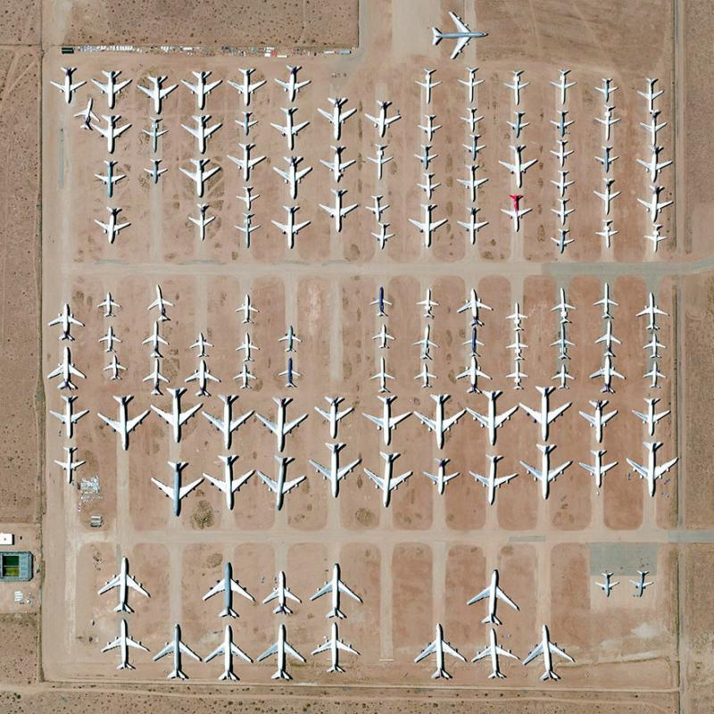 Amazing #Satellite Photos from the #World - Southern California Logistics Airport, Victorville, #California , #United_States - Image 77