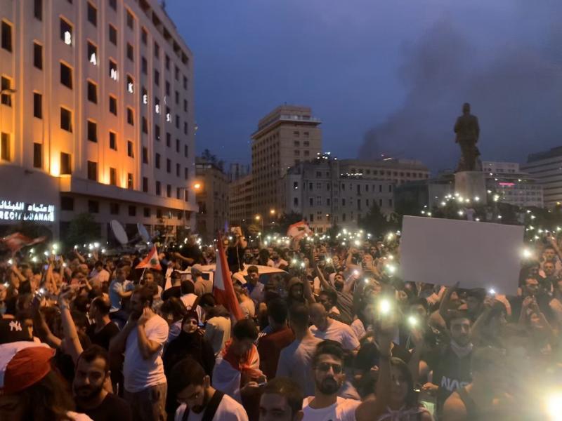 صور من مظاهرات #لبنان #لبنان_ينتفض - صورة 8