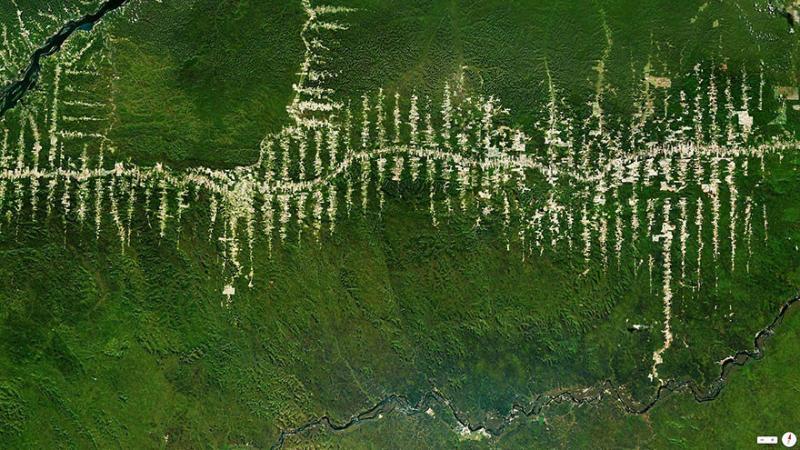 Amazing #Satellite Photos from the #World - #Amazon Rainforest Deforestation, Para, #Brazil - Image 20