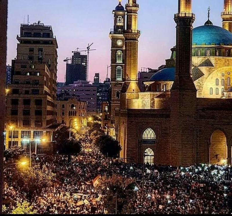 صور من مظاهرات #لبنان #لبنان_ينتفض - صورة 33