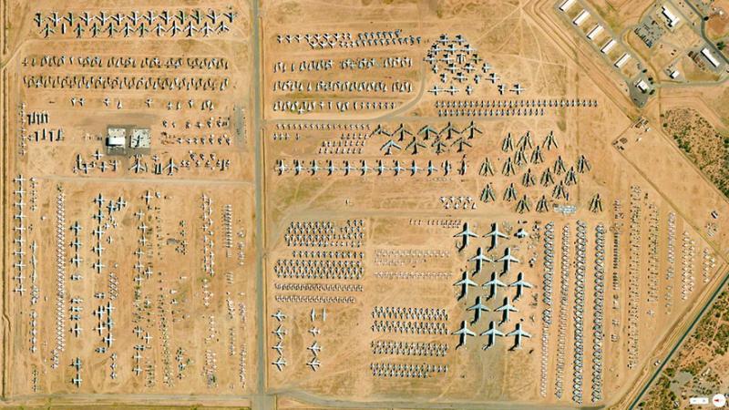 Amazing #Satellite Photos from the #World - 309th Aerospace Maintenance And Regeneration Group Tucson, #Arizona , #United_States - Image 5