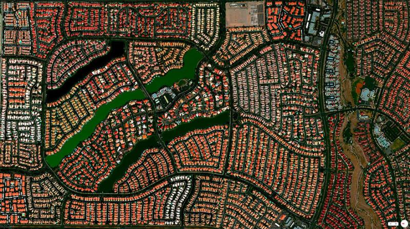 Amazing #Satellite Photos from the #World - Desert Shores Community, #Las_Vegas, #Nevada , #United_States - Image 53