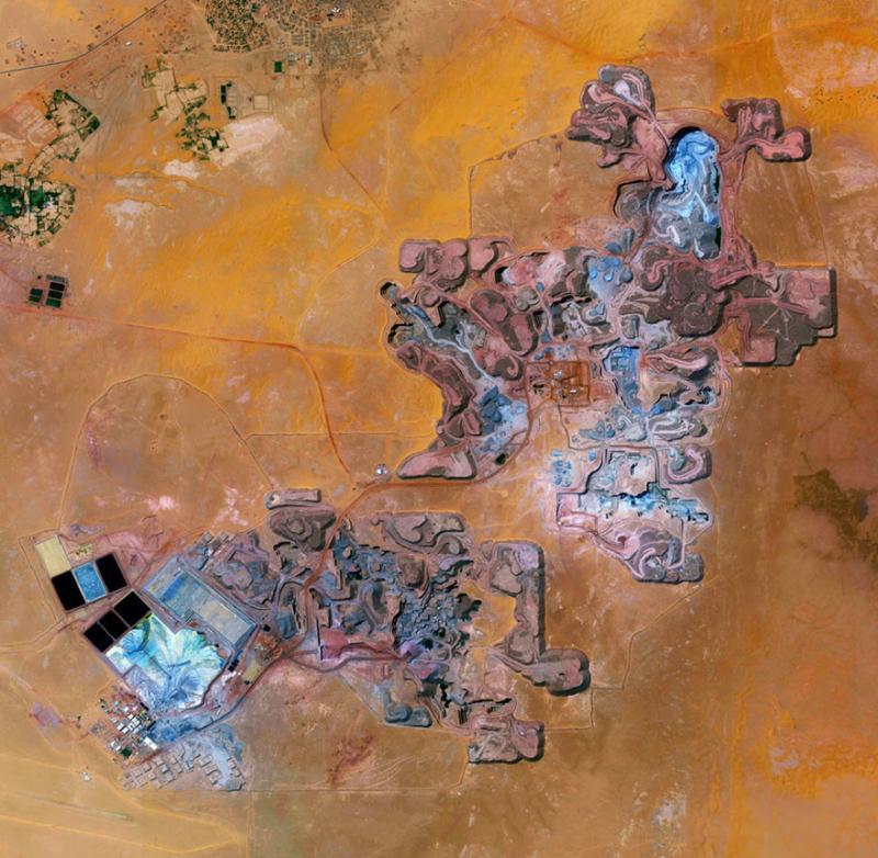 Amazing #Satellite Photos from the #World - Arlit Uranium Mine, Arlit, #Niger - Image 31