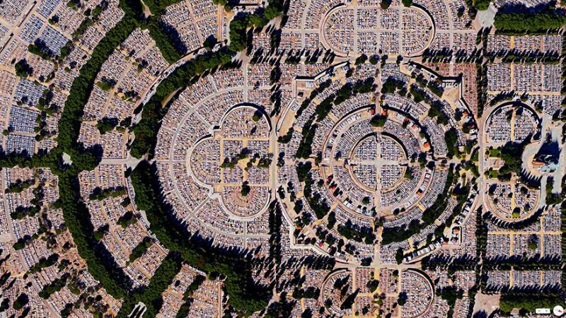 Amazing #Satellite Photos from the #World - Our Lady Of Almudena Cemetery, #Madrid, #Spain - Image 90