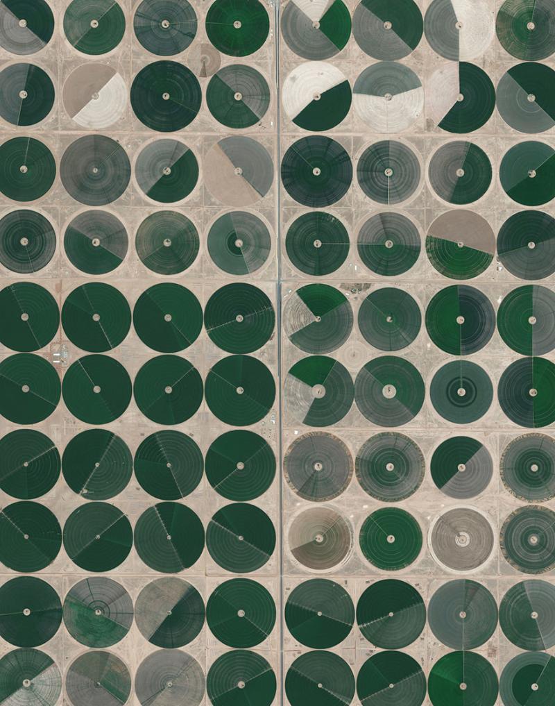 Amazing #Satellite Photos from the #World - Pivot Irrigation Fields, Wadi As-Sirhan Basin, #Saudi_Arabia - Image 101