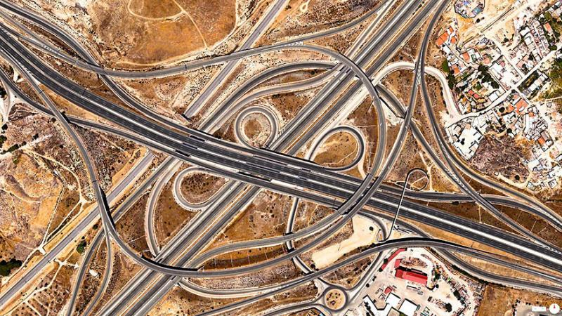 Amazing #Satellite Photos from the #World - Spaghetti Junction (A-3 And M-50), #Madrid , #Spain - Image 16