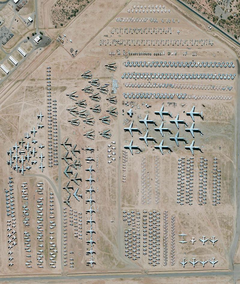 Amazing #Satellite Photos from the #World - Davis-Monthan Air Force Base Aircraft Boneyard, Tucson,#Arizona, #United_States - Image 74