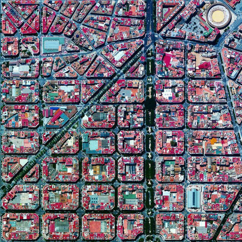 Amazing #Satellite Photos from the #World - L'eixample, #Valencia, #Spain - Image 91