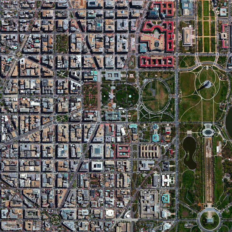 Amazing #Satellite Photos from the #World - L'enfant Plan, #Washington , D.C, #United_States - Image 21