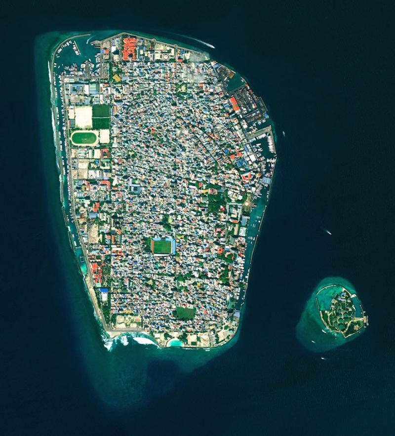 Amazing #Satellite Photos from the #World - Malé, Republic Of #Maldives - Image 51