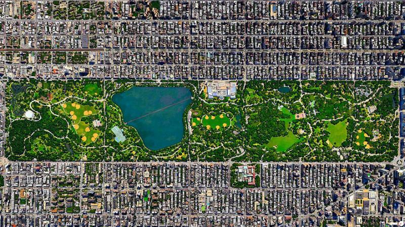 Amazing #Satellite Photos from the #World - Central Park, New York City, #NewYork , #United_States - Image 70