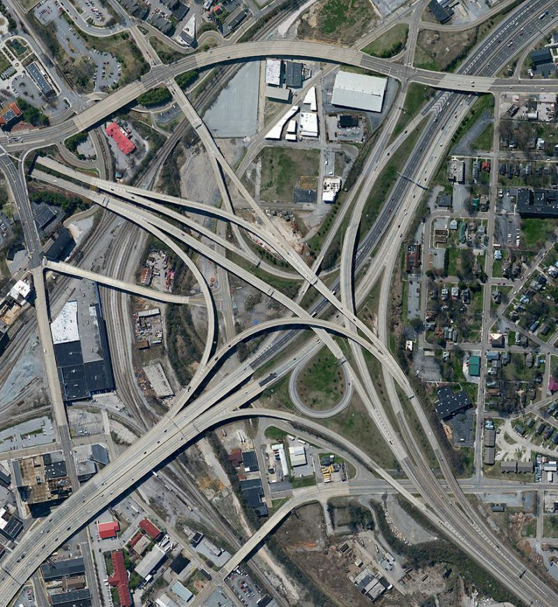 Amazing #Satellite Photos from the #World - Spaghetti Junction, Knoxville, #Tennessee , #United_States - Image 47