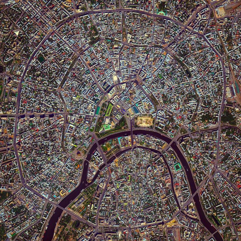 Amazing #Satellite Photos from the #World - Moscow Rings, #Moscow , #Russia - Image 4
