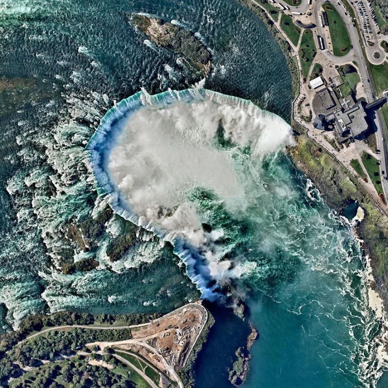 Amazing #Satellite Photos from the #World - #Niagara Falls, #Canada, #United_States - Image 97