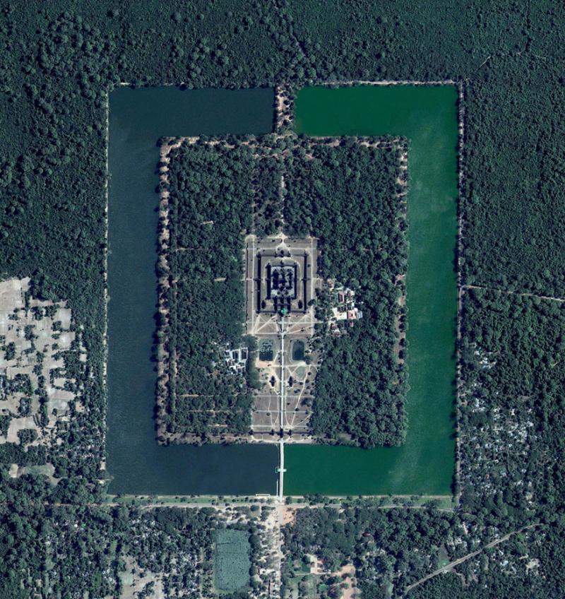 Amazing #Satellite Photos from the #World - Angkor Wat, #Cambodia - Image 61
