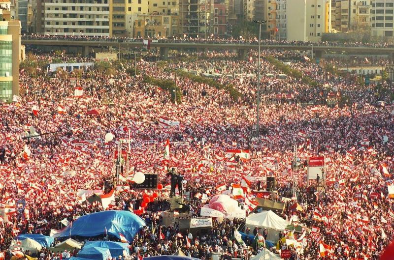 صور من مظاهرات #لبنان #لبنان_ينتفض - صورة 4