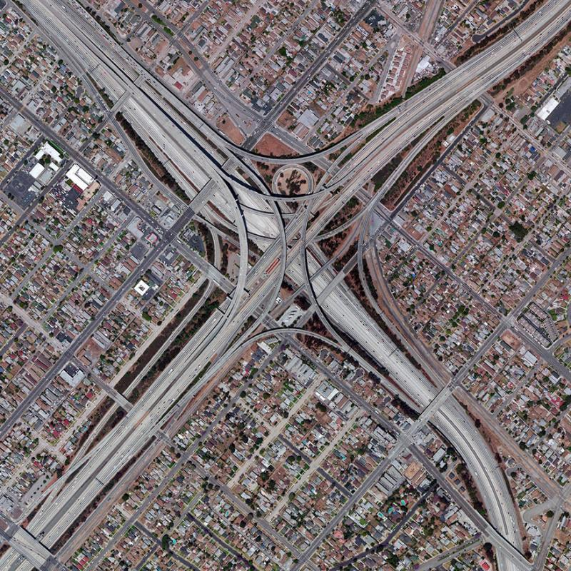 Amazing #Satellite Photos from the #World - Judge Harry Pregerson Interchange, Los Angeles, #California #United_States - Image 25