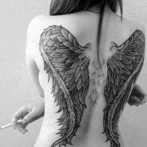 تصاميم #وشوم #وشم #Tattoos على صور ملائكة #فن #ماكياج #بنات - صورة 72