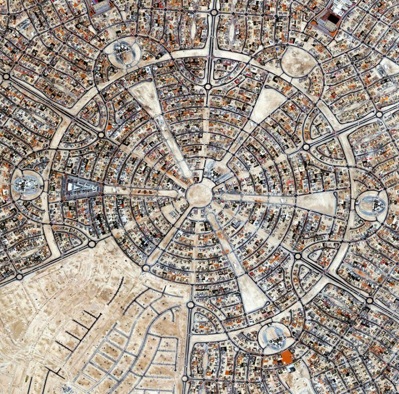 Amazing #Satellite Photos from the #World - Al Falah Housing Project, #AbuDhabi , United Arab Emirates - Image 99