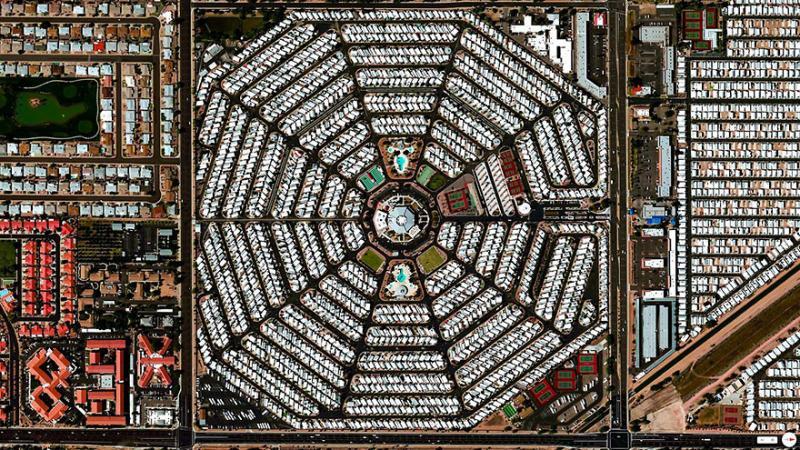 Amazing #Satellite Photos from the #World - Venture Out Rv Resort, Mesa, #Arizona, #United_States - Image 24
