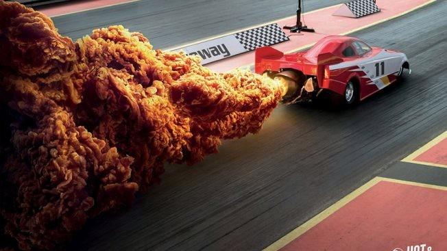 #إعلان مميز لشركة #KFC في #هونج_كونج عن منتجهم الحار #تسويق