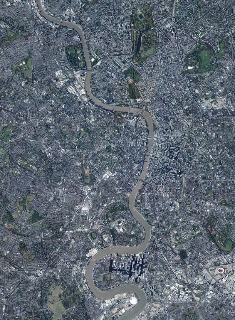 Amazing #Satellite Photos from the #World - #London , #England , #UK - Image 88