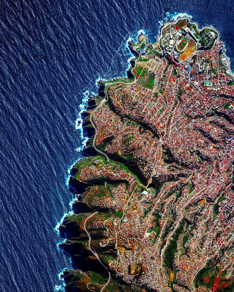 Amazing #Satellite Photos from the #World - Valparaíso, #Chile - Image 83