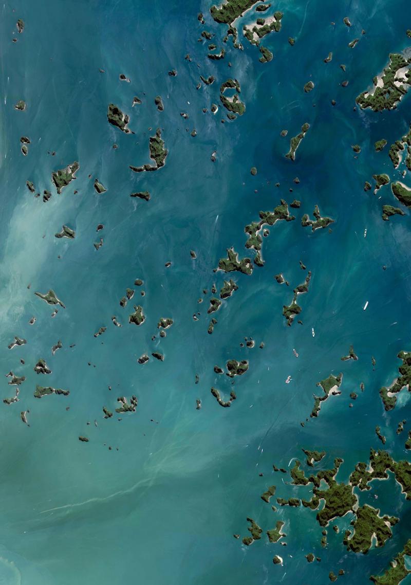 Amazing #Satellite Photos from the #World - Halong Bay, Quảng Ninh Province, #Vietnam - Image 17