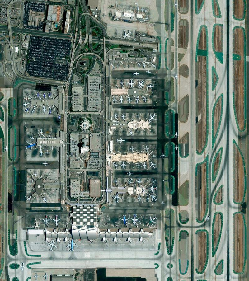 Amazing #Satellite Photos from the #World - Los Angeles International Airport, Los Angeles, #California , #United_States - Image 14