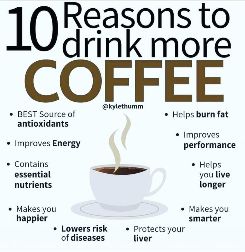 Ten reasons to drink #coffee #Infographic